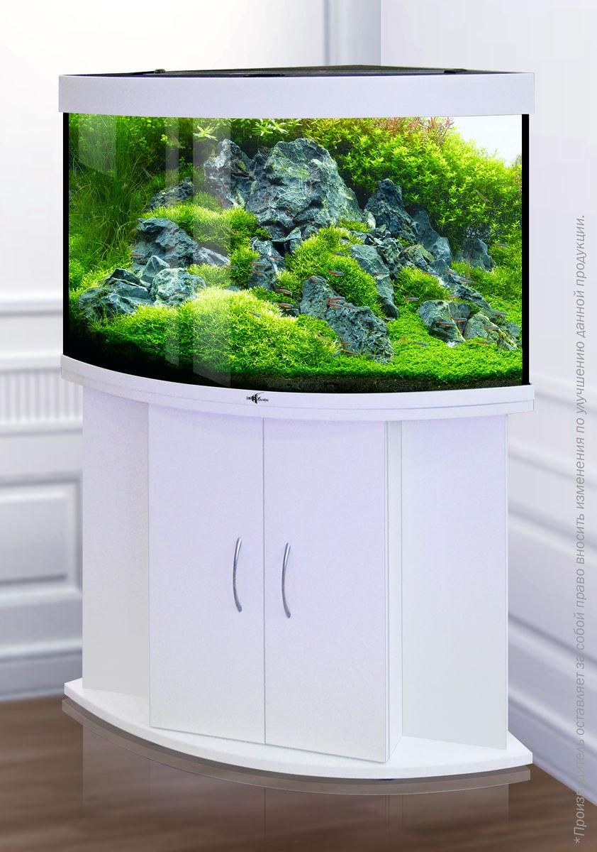 Угловой аквариум Биодизайн ДИАРАМА 200 (185 л., 6 цветов)