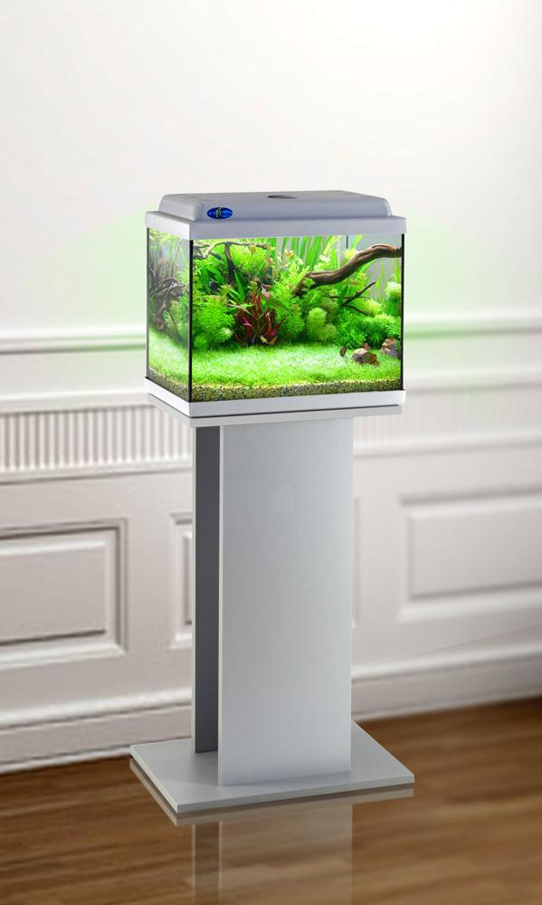 Комплект аквариум+тумба КЛАССИК 30 (серебро) 28 л лампа 1*6W в комплекте