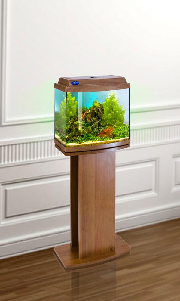 Комплект аквариум+тумба КЛАССИК 30R (золотой дуб) 27 л лампа 1*6W в комплекте