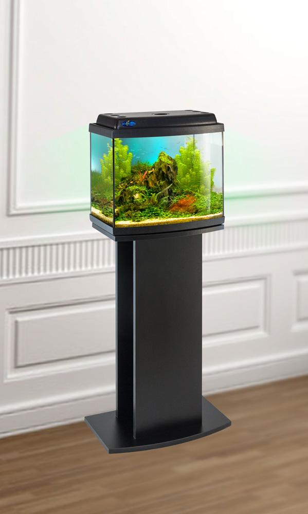 Комплект аквариум+тумба КЛАССИК 30R (чёрный) 27 л лампа 1*6W в комплекте