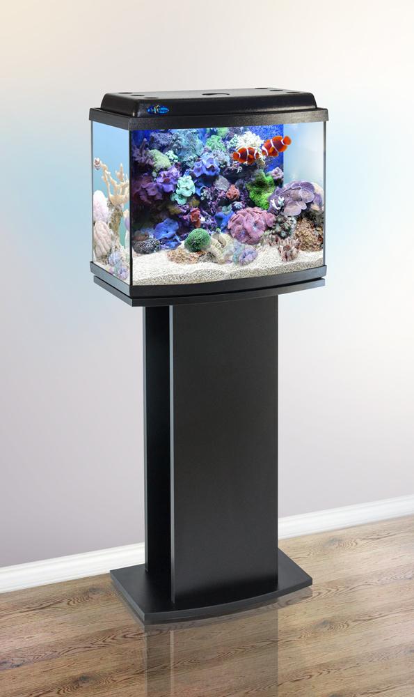 Комплект аквариум+тумба КЛАССИК 40R (чёрный) 38 л лампа 1*6W в комплекте