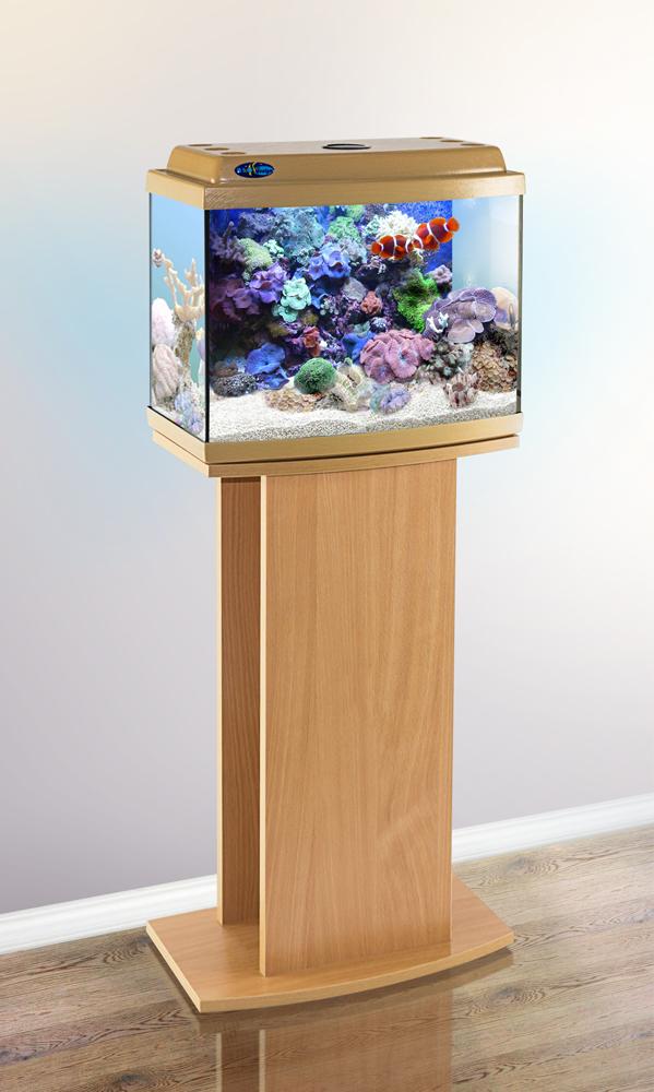Комплект аквариум+тумба КЛАССИК 40R (бук) 38 л лампа 1*6W в комплекте