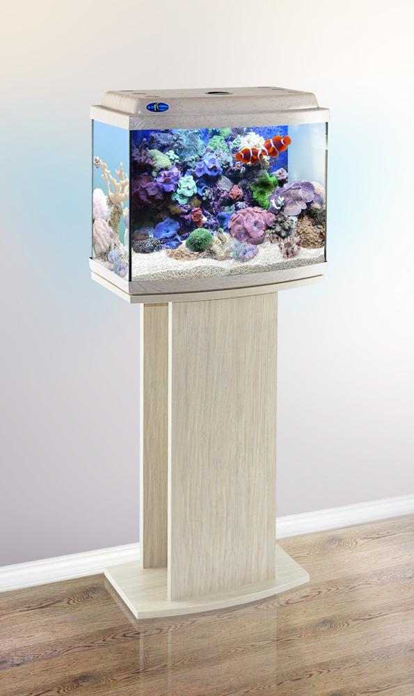 Комплект аквариум+тумба КЛАССИК 40R (белёный дуб) 38 л лампа 1*6W в комплекте