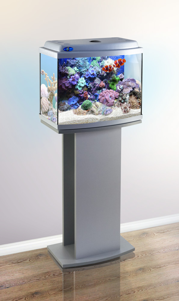 Комплект аквариум+тумба КЛАССИК 40R (серебро) 38 л лампа 1*6W в комплекте