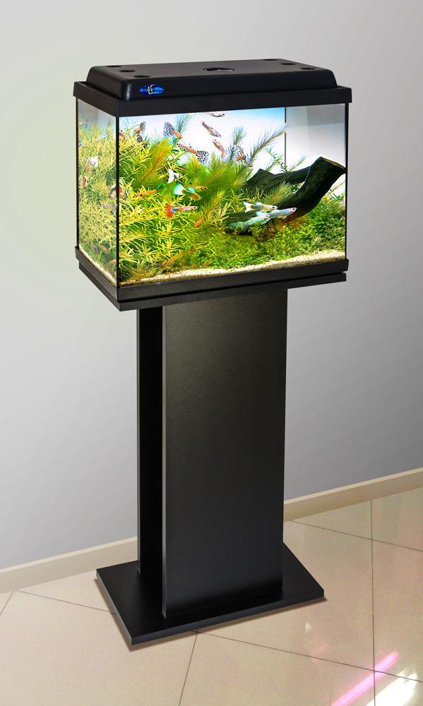 Комплект аквариум+тумба КЛАССИК 40 (чёрный) 39 л лампа 1*6W в комплекте