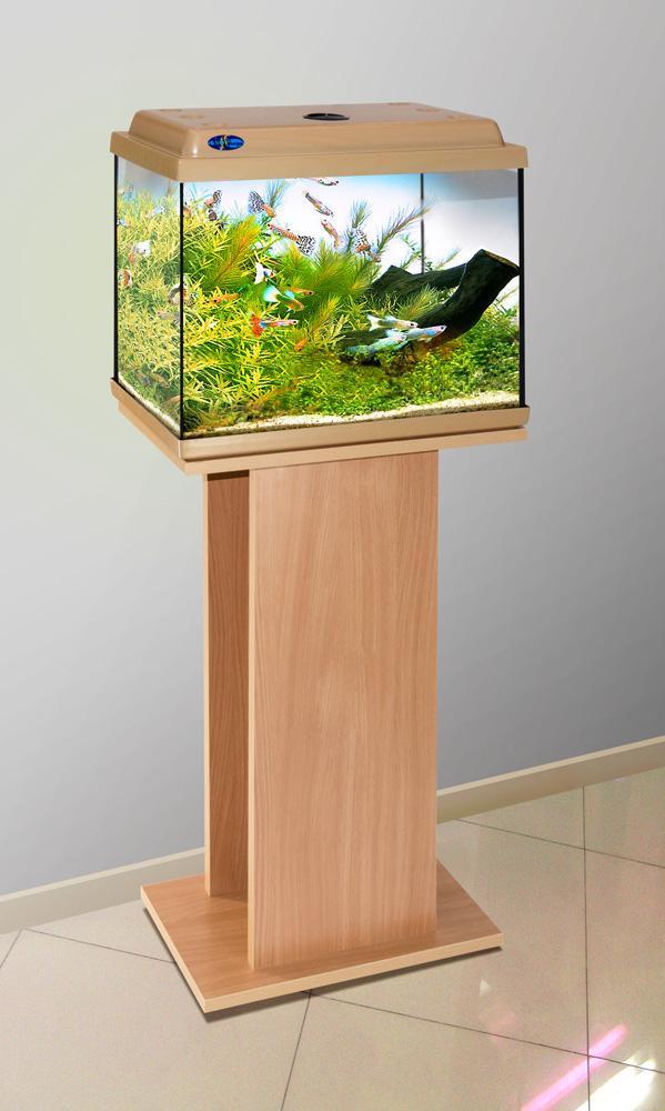 Комплект аквариум+тумба КЛАССИК 40 (бук) 39 л лампа 1*6W в комплекте