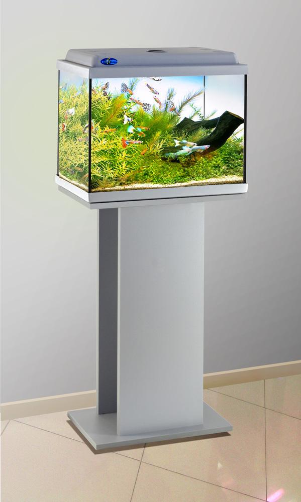 Комплект аквариум+тумба КЛАССИК 40 (серебро) 39 л лампа 1*6W в комплекте