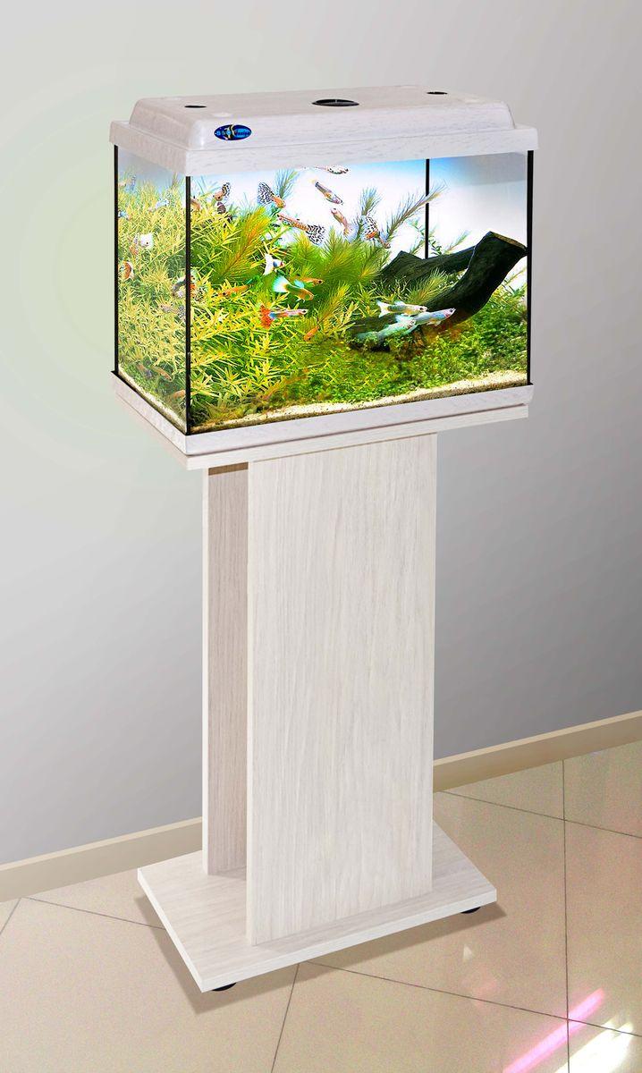 Комплект аквариум+тумба КЛАССИК 40 (белёный дуб) 39 л лампа 1*6W в комплекте
