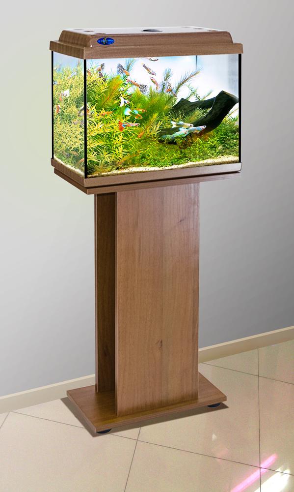 Комплект аквариум+тумба КЛАССИК 40 (золотой дуб) 39 л лампа 1*6W в комплекте