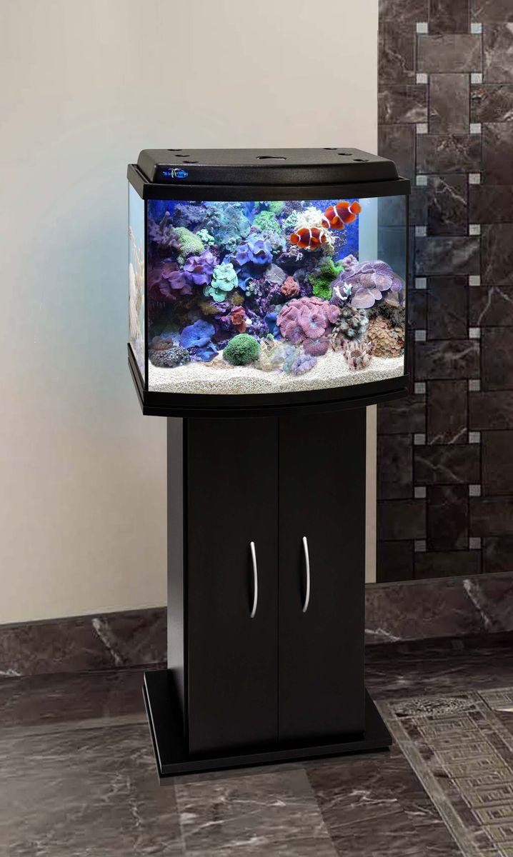 Комплект аквариум+тумба КЛАССИК 50R (чёрный) 53 л лампа 1*6W в комплекте