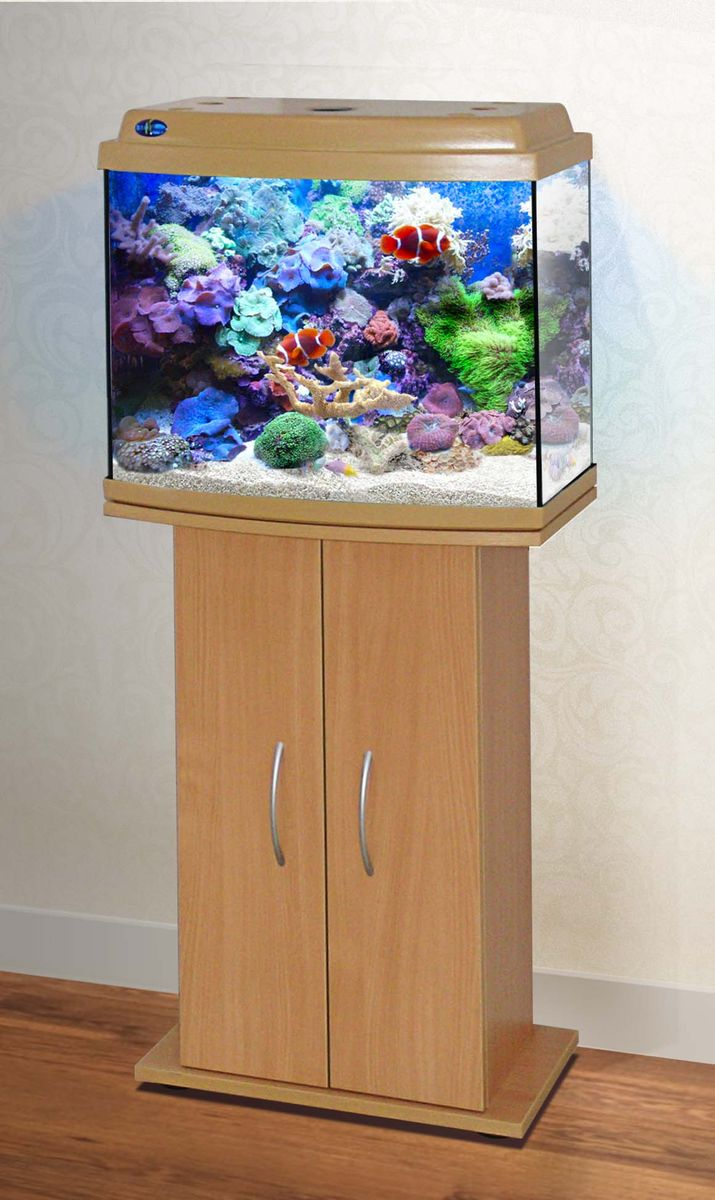 Комплект аквариум+тумба КЛАССИК 50R (бук) 53 л лампа 1*6W в комплекте