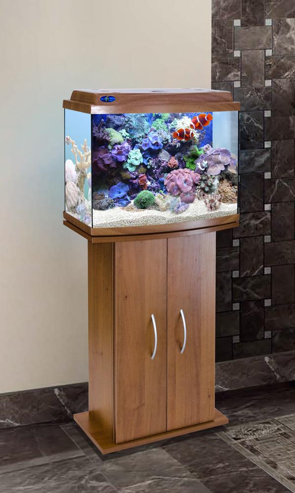 Комплект аквариум+тумба КЛАССИК 50R (золотой дуб) 53 л лампа 1*6W в комплекте