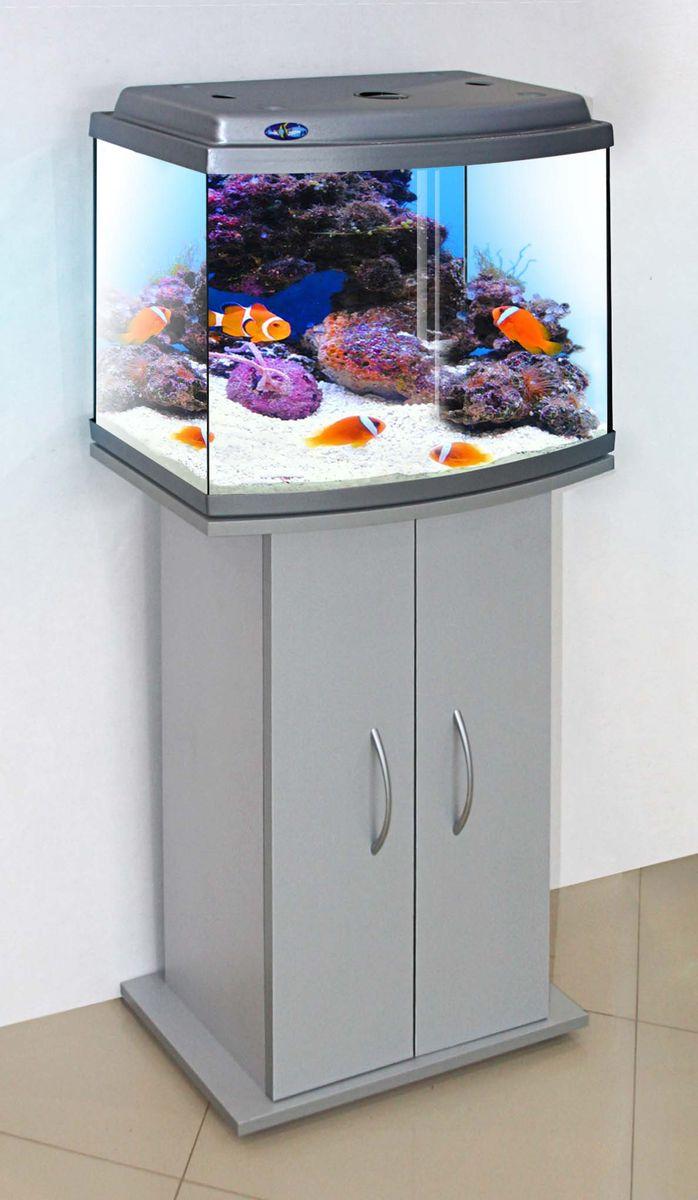 Комплект аквариум+тумба КЛАССИК 50R (серебро) 53 л лампа 1*6W в комплекте