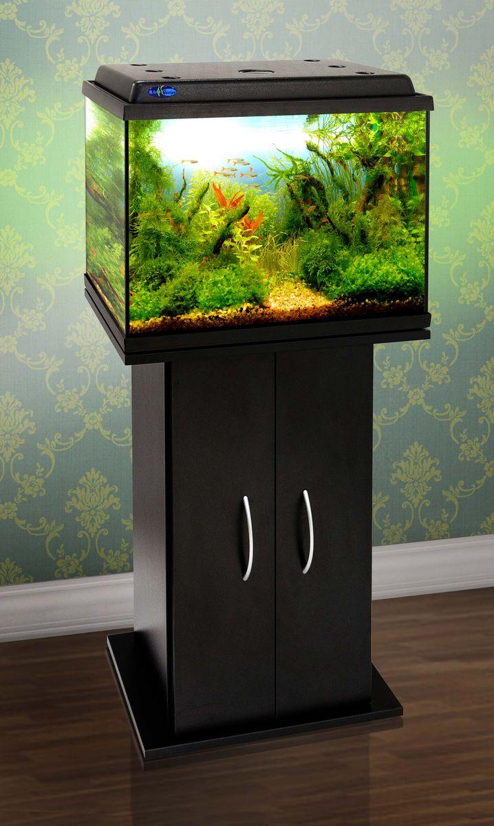 Комплект аквариум+тумба КЛАССИК 50 (чёрный) 55 л лампа 1*6W в комплекте
