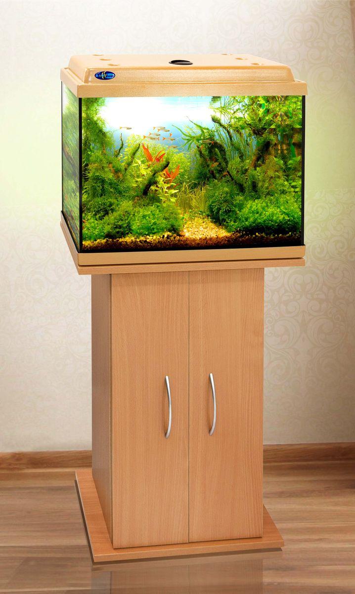 Комплект аквариум+тумба КЛАССИК 50 (бук) 55 л лампа 1*6W в комплекте