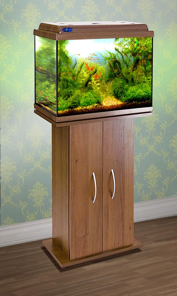 Комплект аквариум+тумба КЛАССИК 50 (золотой дуб) 55 л лампа 1*6W в комплекте