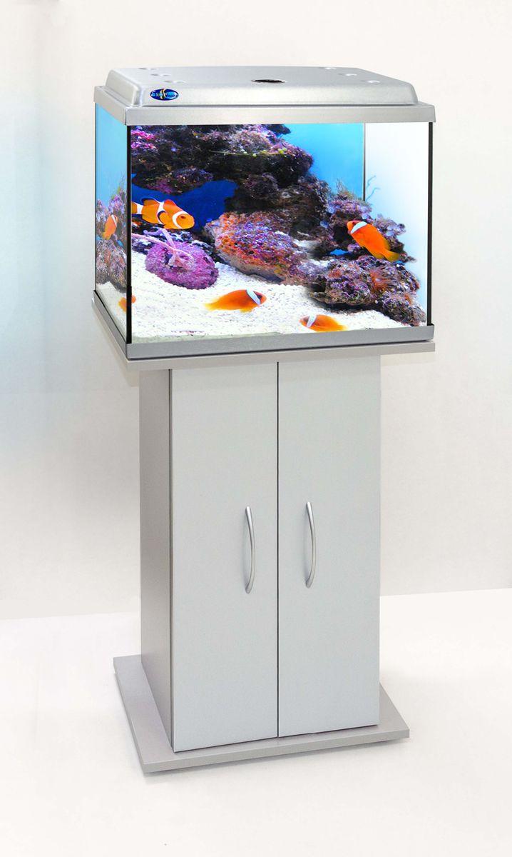 Комплект аквариум+тумба КЛАССИК 50 (серебро) 55 л лампа 1*6W в комплекте