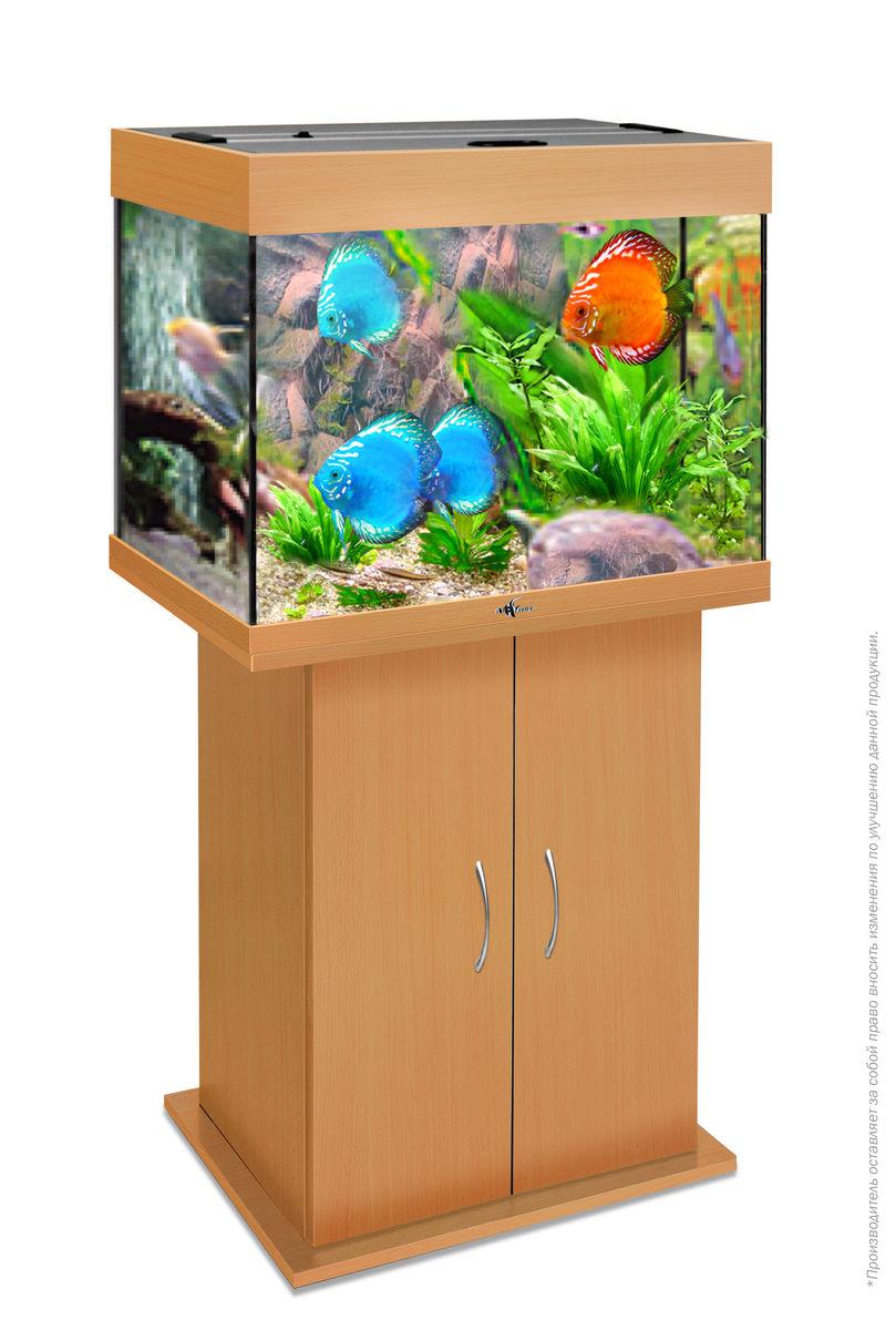 Комплект аквариум+тумба РИФ 100 лампы 2*15W в комплекте (бук) 100л