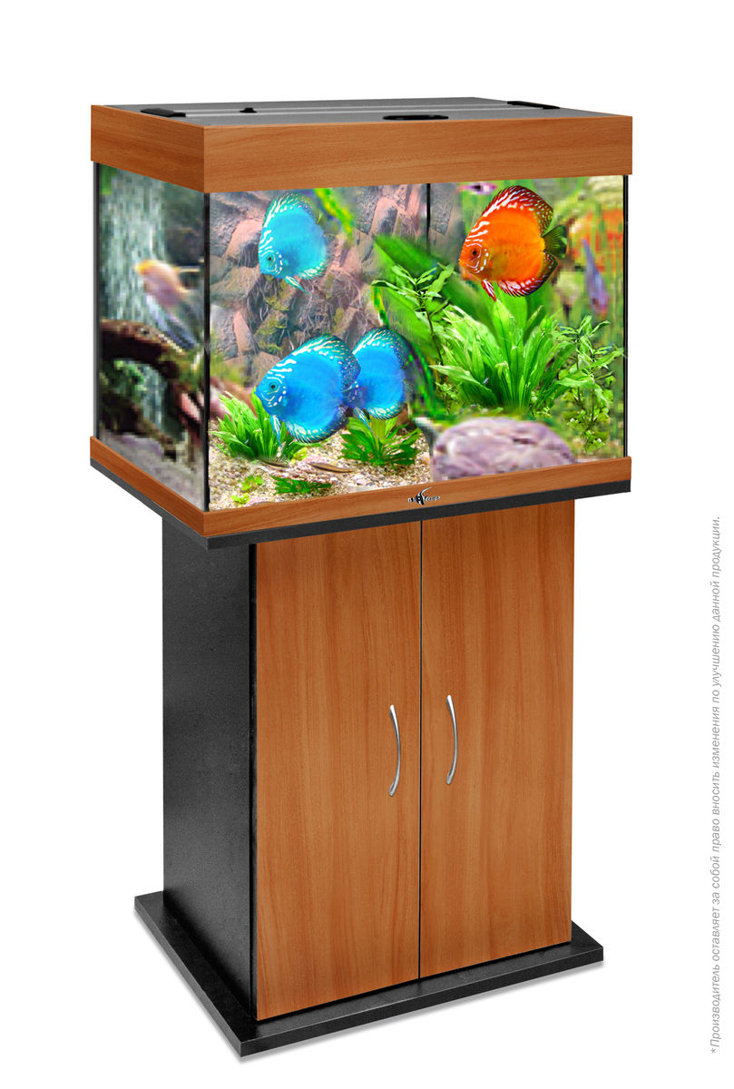 Комплект аквариум+тумба РИФ 100 лампы 2*15W в комплекте (груша) 100л