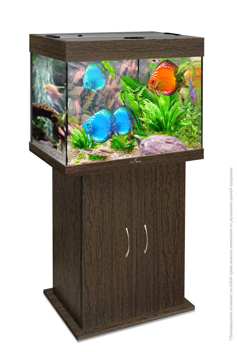 Комплект аквариум+тумба РИФ 100 лампы 2*15W в комплекте (венге) 100л