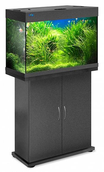 Комплект аквариум+тумба РИФ 110 лампы 2*24W в комплекте (чёрный) 104л