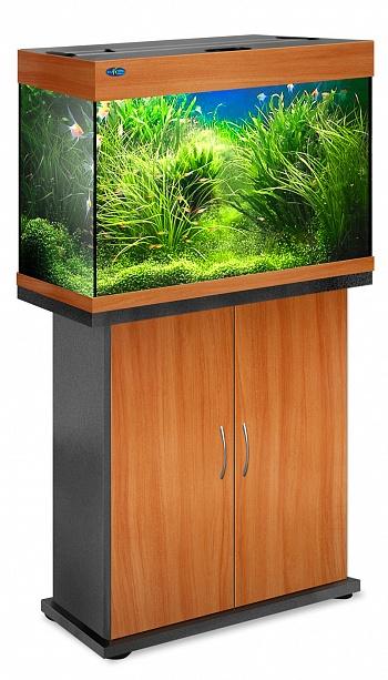 Комплект аквариум+тумба РИФ 110 лампы 2*24W в комплекте (груша) 104л