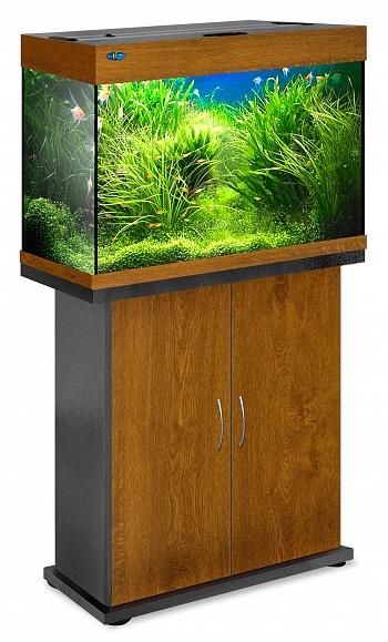 Комплект аквариум+тумба РИФ 110 лампы 2*24W в комплекте (золотой дуб) 104л