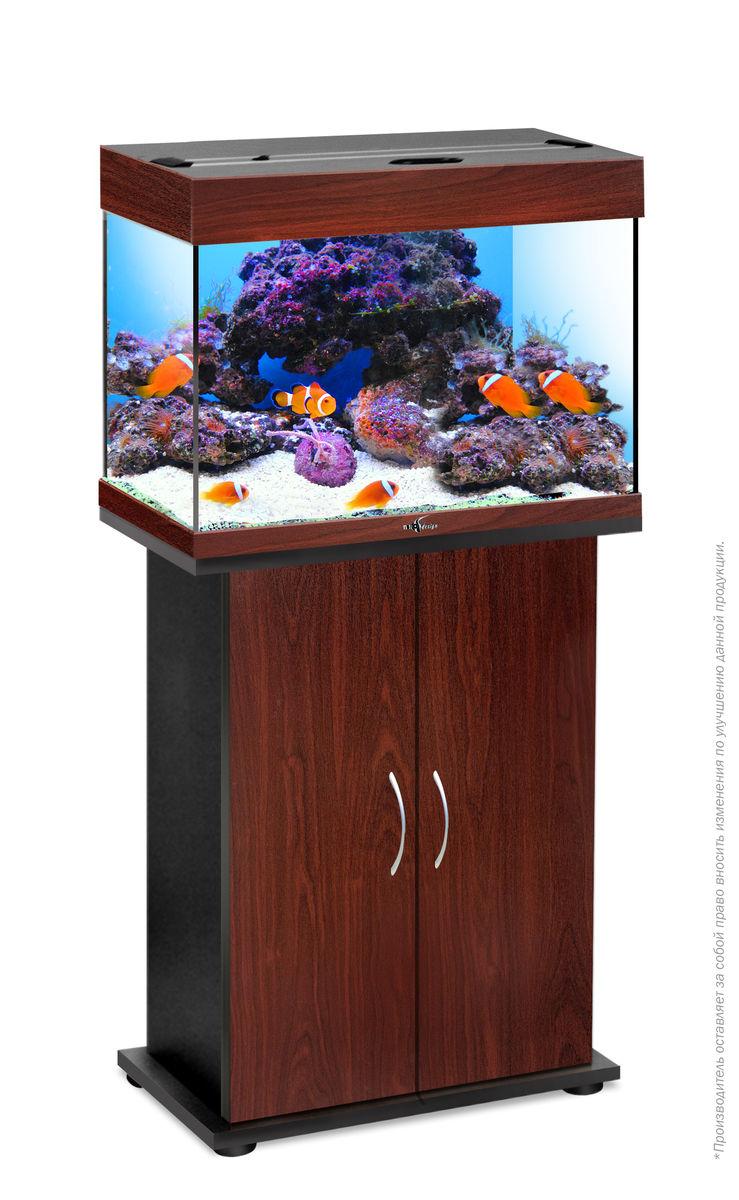 Комплект аквариум+тумба РИФ 60 лампы 2*15W в комплекте (тёмная вишня) 60л