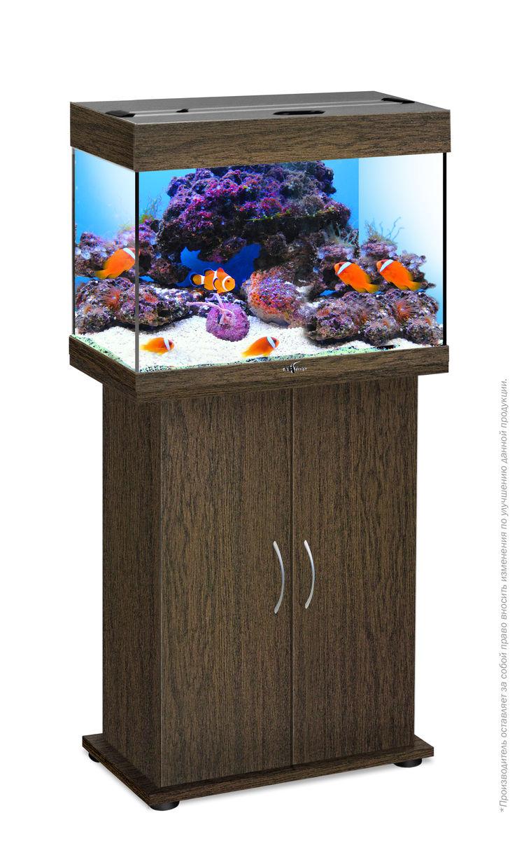 Комплект аквариум+тумба РИФ 60 лампы 2*15W в комплекте (венге) 60л