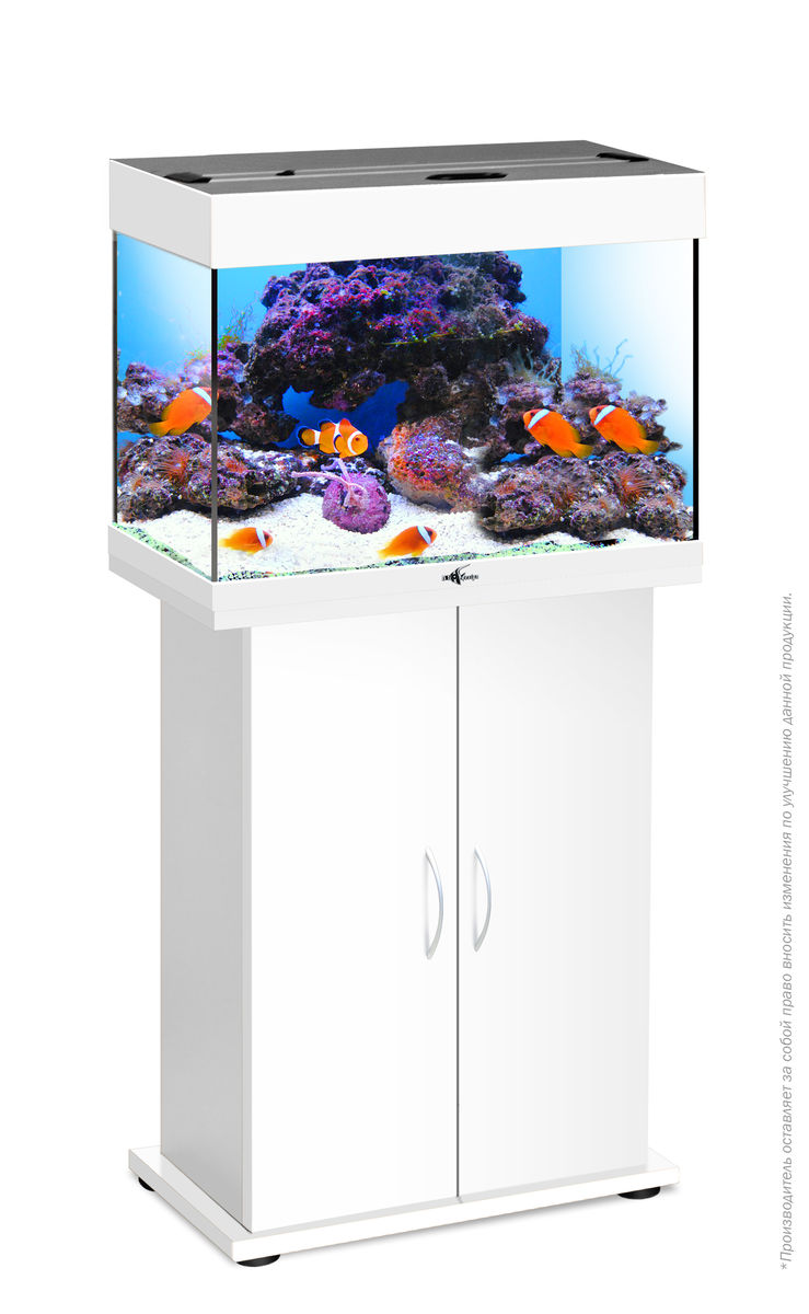 Комплект аквариум+тумба РИФ 60 лампы 2*15W в комплекте (белый) 60л