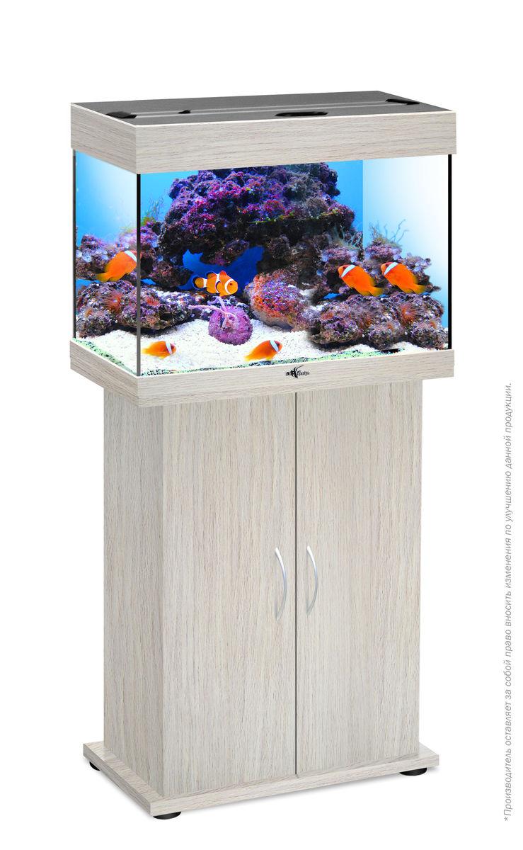 Комплект аквариум+тумба РИФ 60 лампы 2*15W в комплекте (белёный дуб) 60л