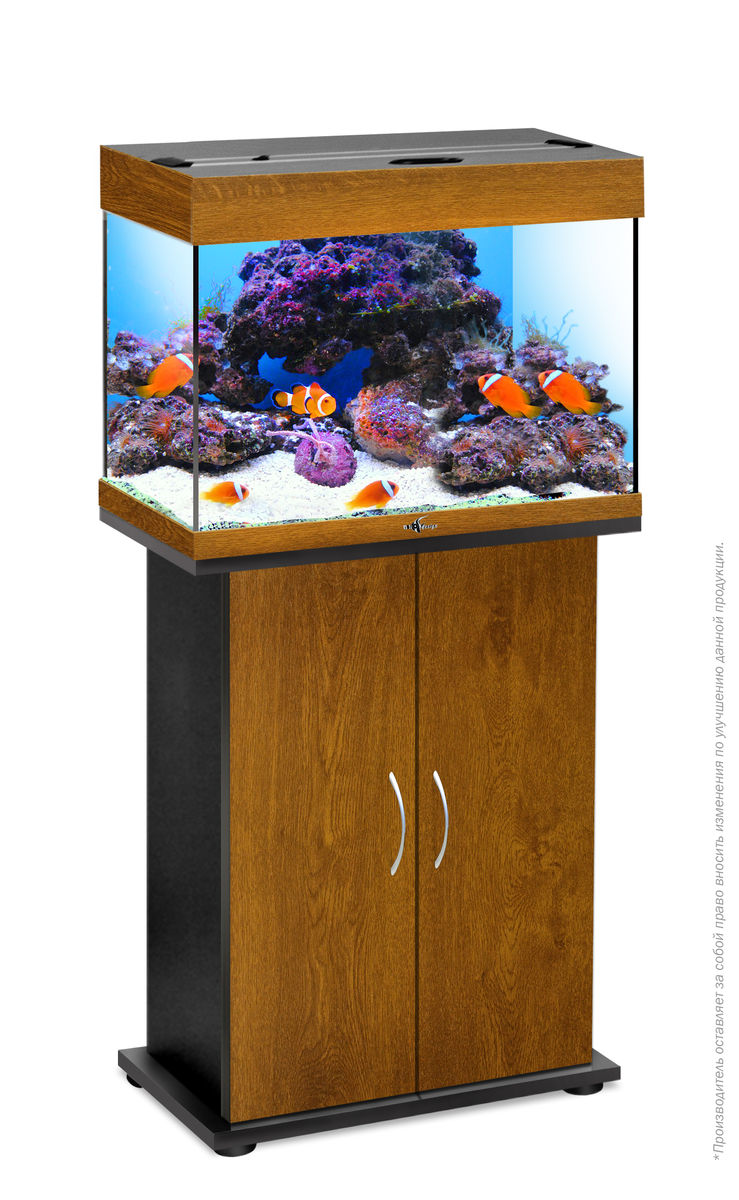 Комплект аквариум+тумба РИФ 60 лампы 2*15W в комплекте (золотой дуб) 60л