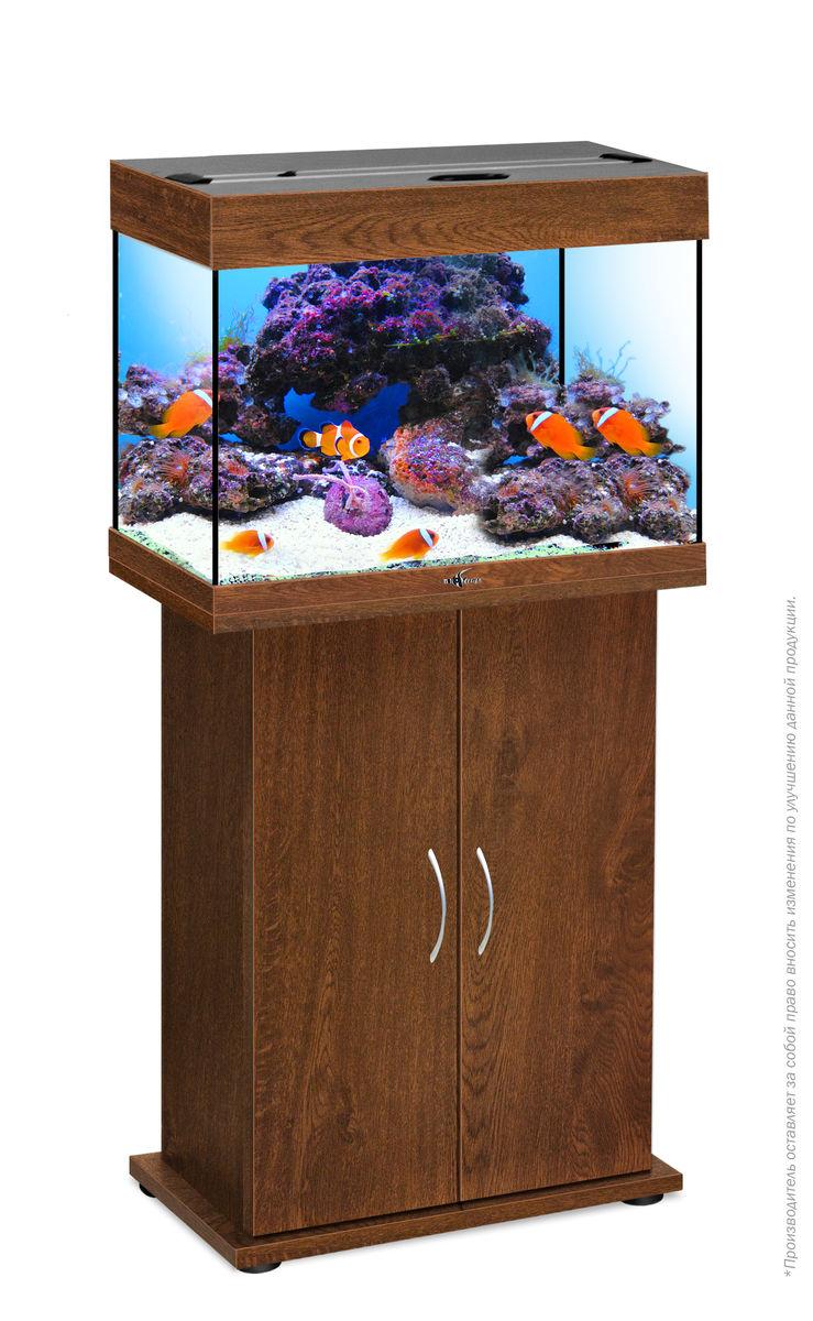 Комплект аквариум+тумба РИФ 60 лампы 2*15W в комплекте (золотой орех) 60л