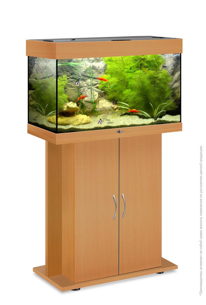 Комплект аквариум+тумба РИФ 80 лампы 2*18W в комплекте (бук) 82л