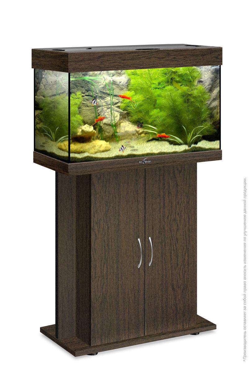 Комплект аквариум+тумба РИФ 80 лампы 2*18W в комплекте (венге) 82л
