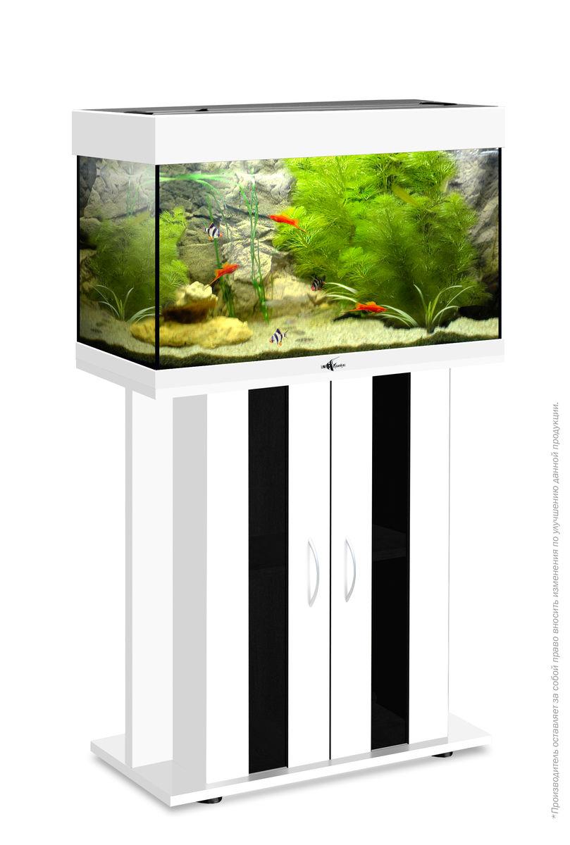 Комплект аквариум+тумба РИФ 80 лампы 2*18W в комплекте (белый) 82л