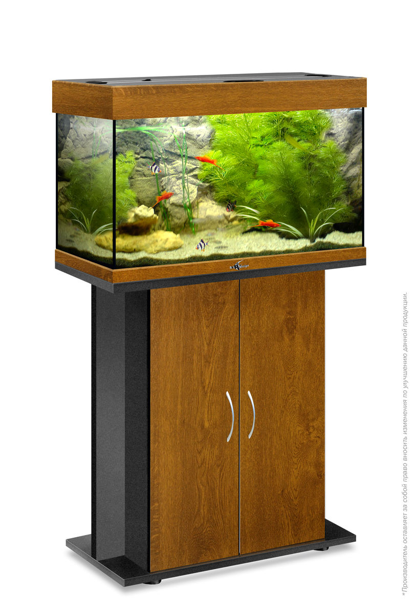 Комплект аквариум+тумба РИФ 80 лампы 2*18W в комплекте (золотой дуб) 82л