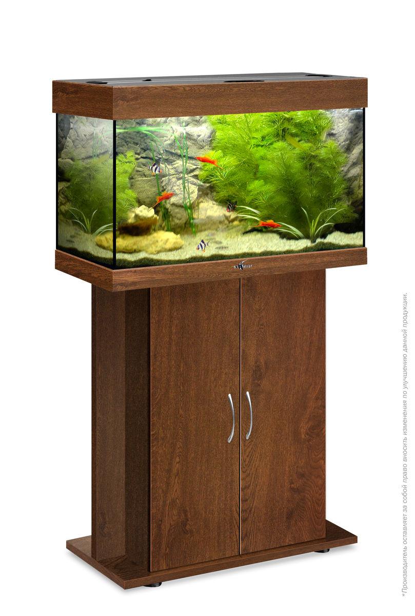 Комплект аквариум+тумба РИФ 80 лампы 2*18W в комплекте (золотой орех) 82л
