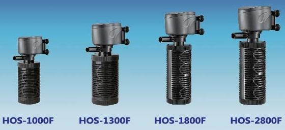 Внутренний быстрый фильтр (500 л/ч, одинарный черный картридж-цилиндр, губка средней крупности) HOS-1000F