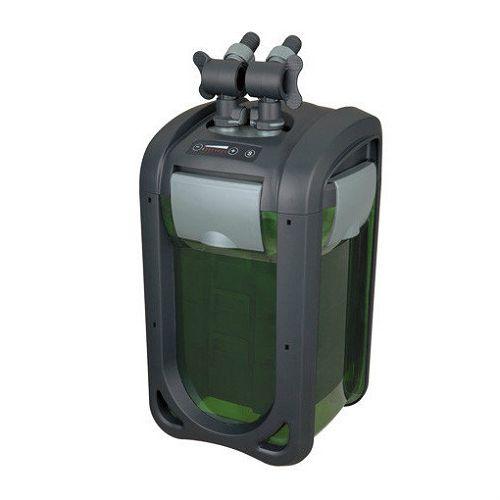 Внешний регулируемый канистровый биофильтр с UV-стерилизацией и наполнителями BY-DGN-410, 4-30W (300-1610л/ч, h=0,5-3м, керам.вал, UV 3W) 240х240х411