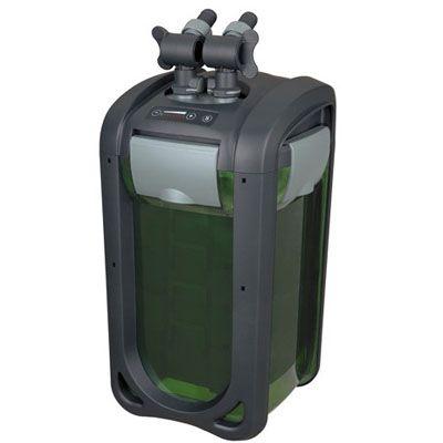 Внешний регулируемый канистровый биофильтр с UV-стерилизацией и наполнителями BY-DGN-520, 4-30W (300-1610л/ч, h=0,5-3м, керам.вал, UV 3W ) 240х240х521