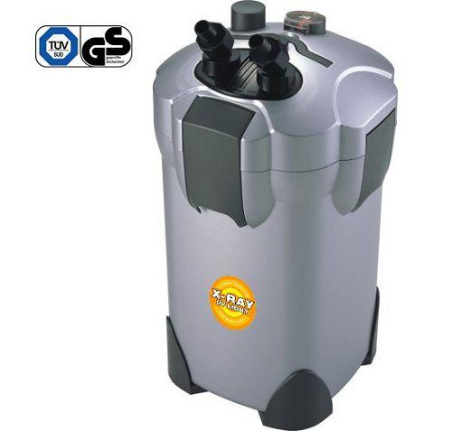 Внешний канистровый биологический фильтр с UV-стерилизацией и наполнителями BY-EFU-20, 20W (400л/ч, керамич.вал, акв. до 400л, UV 5W)