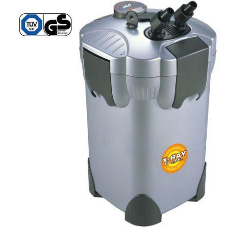 Внешний канистровый биологический фильтр с UV-стерилизацией и наполнителями BY-EFU-35, 34W (950л/ч, керамич.вал, акв. до 550л, UV 5W)