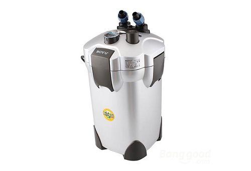 Внешний канистровый биологический фильтр с UV-стерилизацией и наполнителями BY-EFU-45, 36W (1100л/ч, керамич.вал, акв. до 650л, UV 5W)