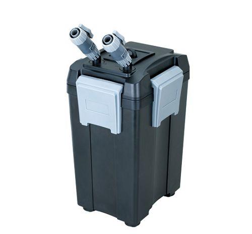 Внешний канистровый биологический фильтр BY-FEF-280, 18W (чёрный, 1000л/ч, h=1,2м, керамич.вал, акв. 150-400л, 4 корзины)
