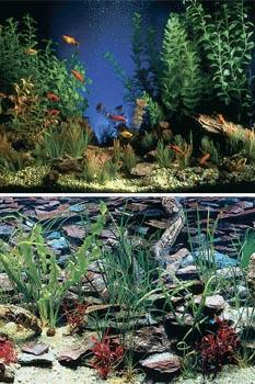 Фон для аквариума высота 30 см (рулон длина 15 м) DB10