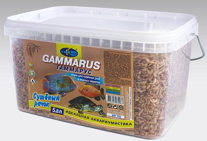 ГАММАРУС сушеный рачек (Gammarus pulex) корм для крупных рыб и водных черепах (ВЕДРО 5,8 литров) 911139
