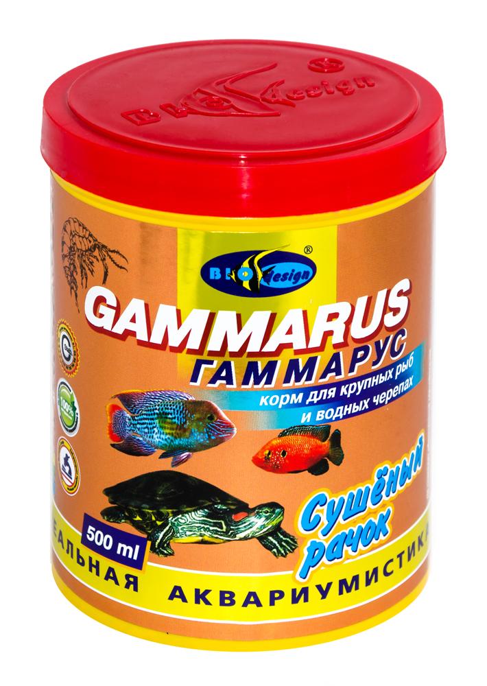 ГАММАРУС сушеный рачек (Gammarus pulex) корм для крупных рыб и водных черепах (банка 500 мл) 911912