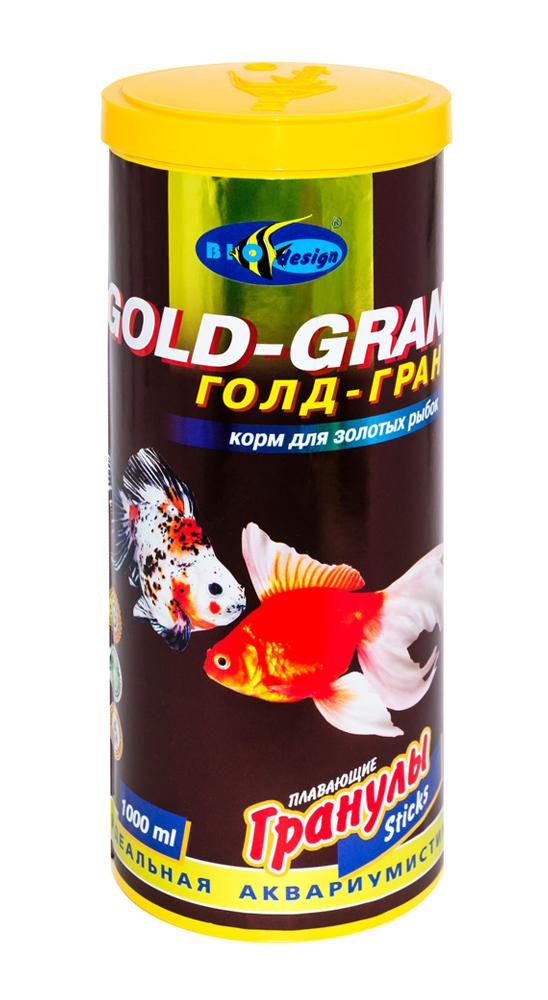ГОЛД-ГРАН плавающие палочки (sticks) 2 вида основной корм для золотых рыб (банка 1000 мл) 911040
