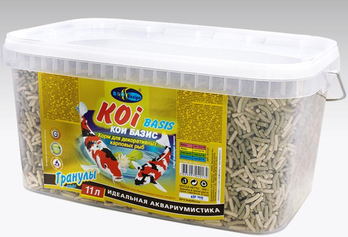 КОИ-БАЗИК плавающие палочки (sticks) 2 вида корм для декоративных карповых рыб (ВЕДРО 11 литров) 911121